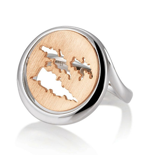 Island Jewelry Ring Rose Gold Coin Collection