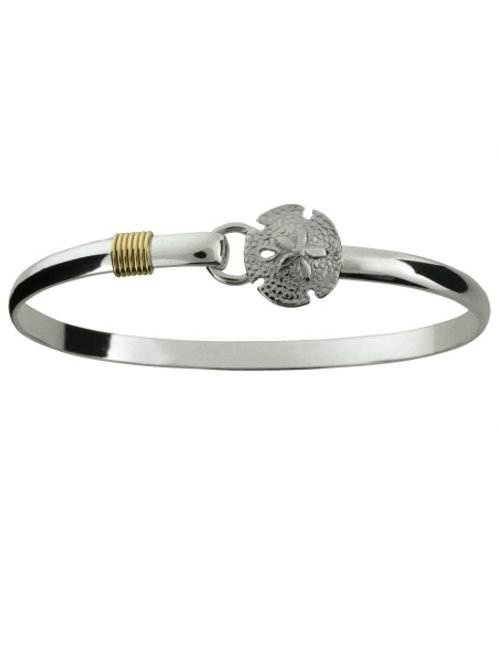 14K Wrap Sand Dollar Hook Bracelet