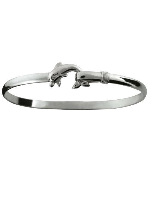 Sterling Silver Dolphin Hook Bracelet