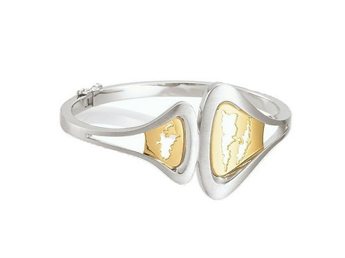 Island Jewelry Bangle Yellow Gold Seashell Collection