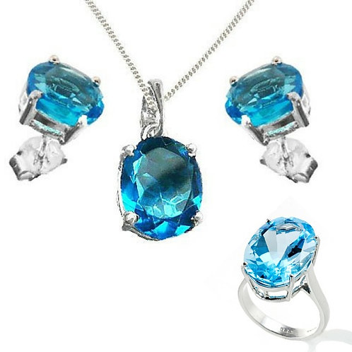 Blue Topaz Full Set