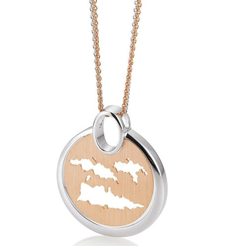 Island Jewelry Necklace Rose Gold Coin Collection
