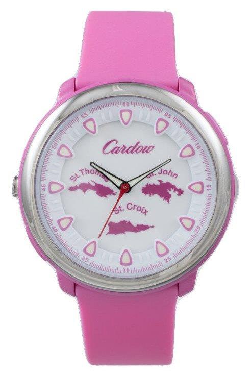 Kids Solid Pink Lite Up Watch