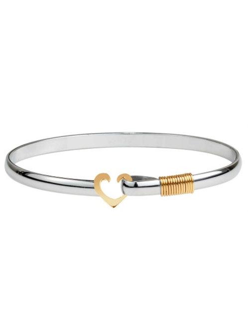 Two Toned Titanium Heart Collection Bracelet