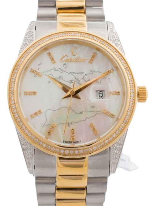 Two Toned Gold Diamond Watch