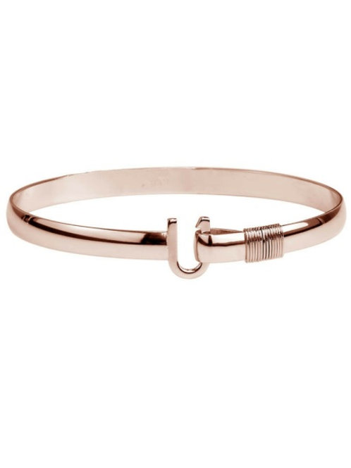 Rose Gold Titanium Hook Bracelet