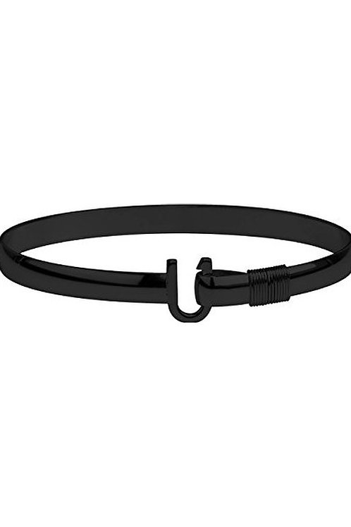 Black Titanium Hook Bracelet