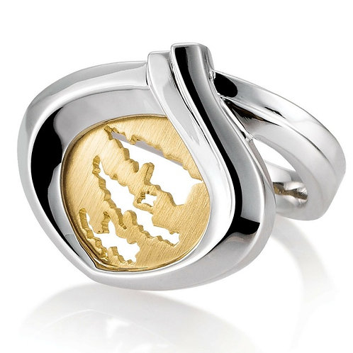 Island Jewelry Ring Yellow Gold Heart Collection