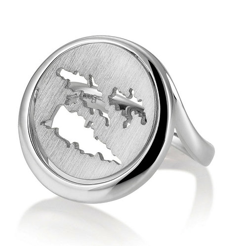 Island Jewelry Ring All Silver Coin Collection