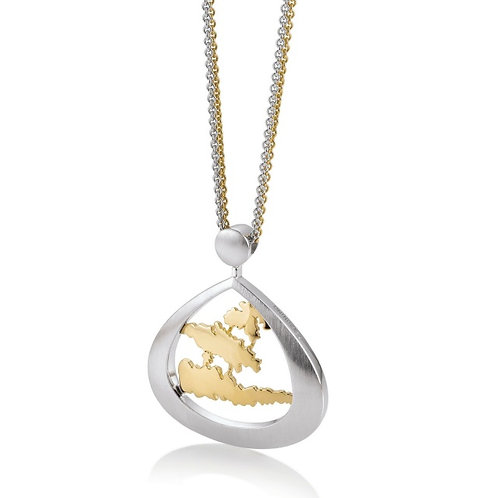 Island Jewelry Necklace Yellow Gold Tear Drop Collection