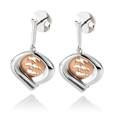 Island Jewelry Earrings Rose Gold Heart Collection