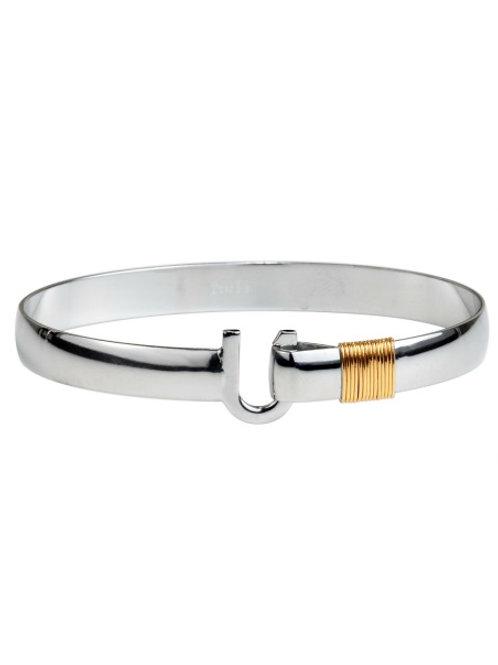 Gold & Silver Titanium Hook Bracelet