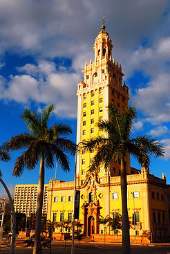 Miami, FL, USA December 3 The Historic Freedom Tower Stands on the Waterfront in Miami Flo