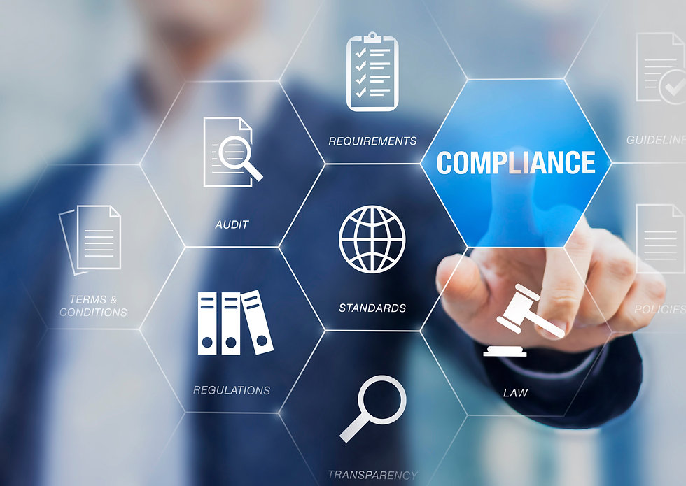 Compliance to Standards, Regulations, and Requirements to pass audit and manage quality co