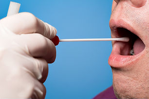 Man use a DNA test tube and cotton swab, wipe test.jpg