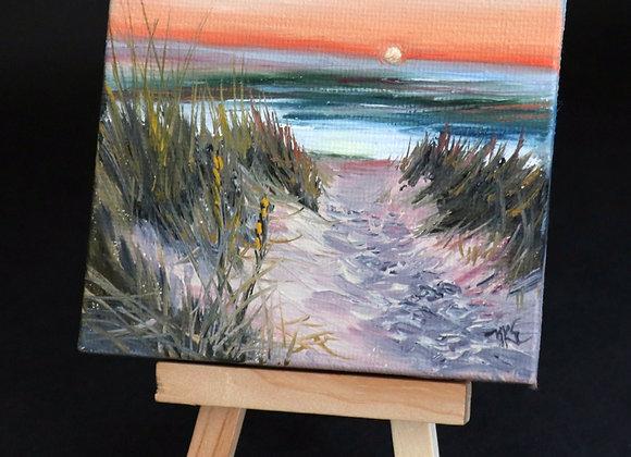 """Sunset Stroll"" mini w/easel"