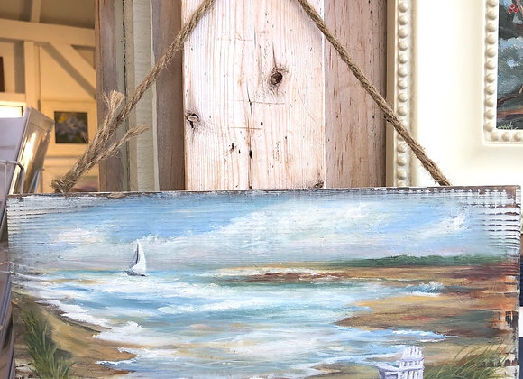 "Whitewashed Barnwood - ""Offshore"""