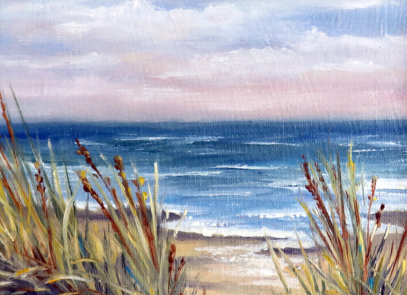 "6"" x 6"" oil on canvas panel- framed"