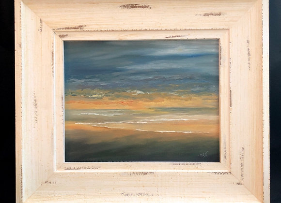 """""""Evening Gold""""  8x10 Oil painting framed"""