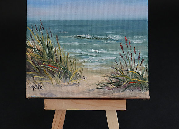 """Salt Air"" mini painting w/easel"