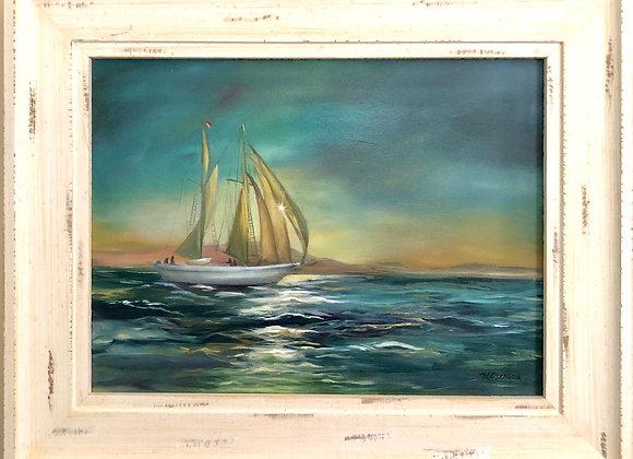 11 x 14 Original Oil Painting / Gold Frame