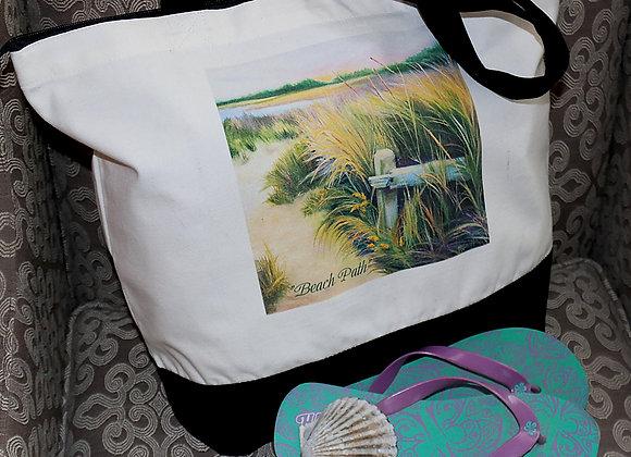 """""""Beach Path"""" Tote Bag"""