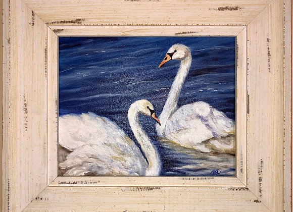 8 x 10 Oil Painting / Whitewash Frame