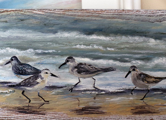 "Whitewashed Barnwood - ""Sanderlings"""