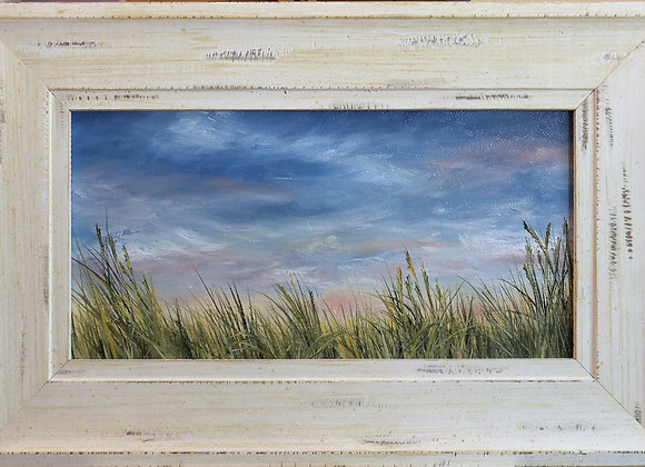 """""""Summer Breeze"""" - 14""""x 7"""" oil on stretched canvas w/frame"""