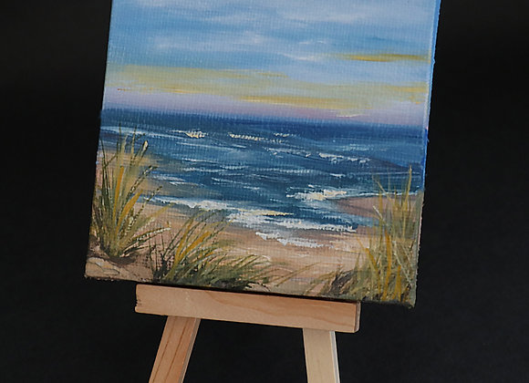 """""""Incoming Tide"""" - oil on canvas w/easel"""