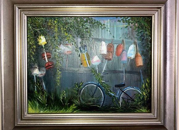 11 x 14 Oil on Panel /Pewter Frame
