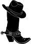 Cowboy boot with hat.png