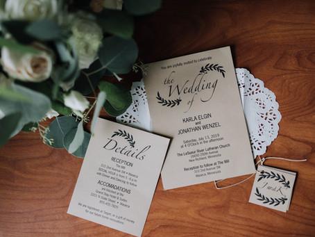 Jon + Karla Wenzel | July Wedding