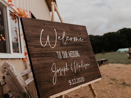 Miller Wedding | September Wedding 2020