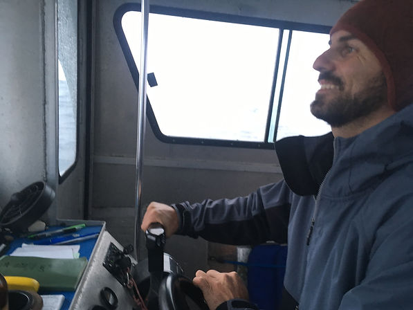 Capt. Matt at the helm