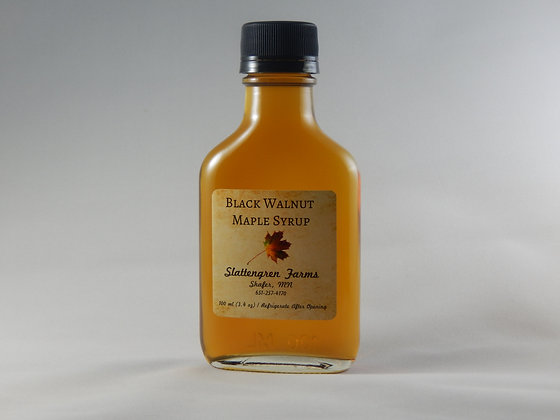 Small Flask Black Walnut Maple Syrup