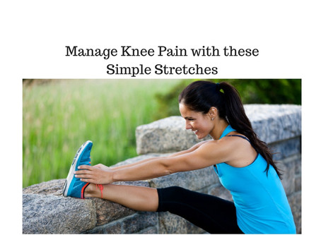 Manage Knee Pain with these Simple Stretches