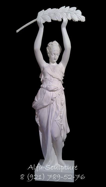 Виктория с венком 80см (гипсовая статуэтка)