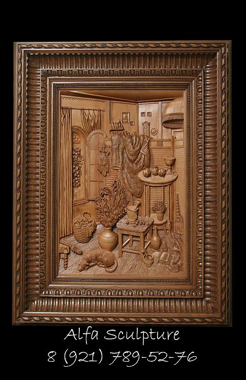 Деревянная копия картины Рудольфа Хачатряна
