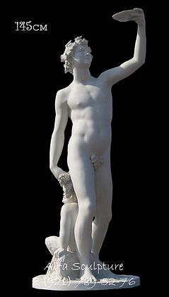 Вакх 145см (скульптура гипсовая)