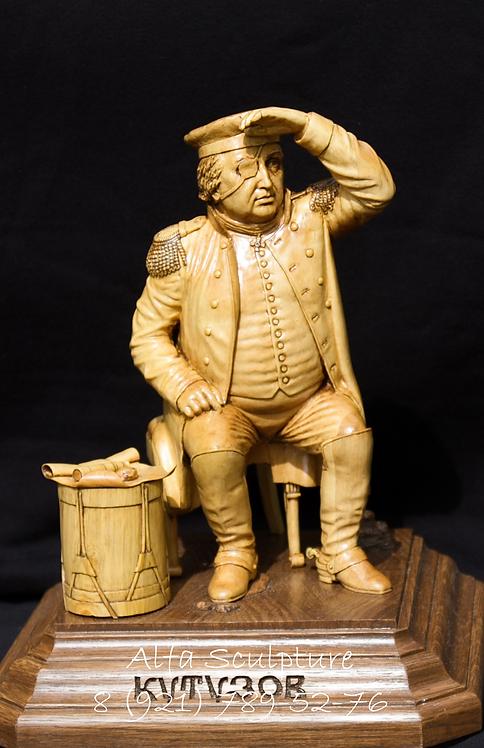Кутузов 30см (скульптура на заказ из дерева)