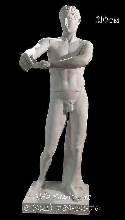 Апоксиомен 210см (гипсовая скульптура)