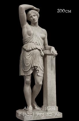 Раненая Амазонка 200см (гипсовая женская скульптура)
