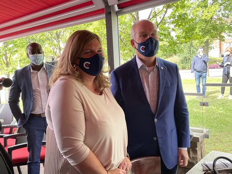 Conservative Party Leader visits the West Island
