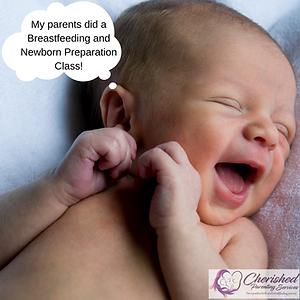 Newborns love colostrum, happy baby