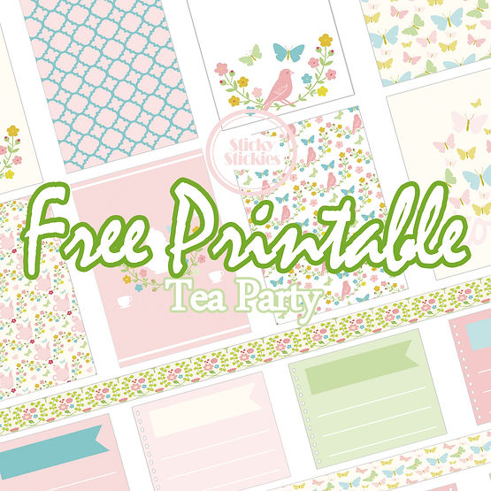 Free Printable Set Tea Party