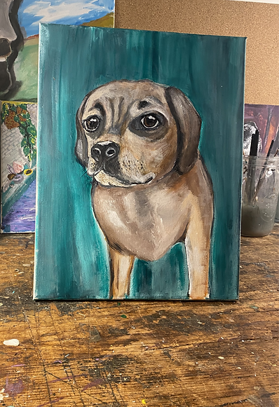 A Portrait of a Dog named Remy