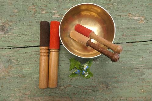 Holzklöppel mit Leder