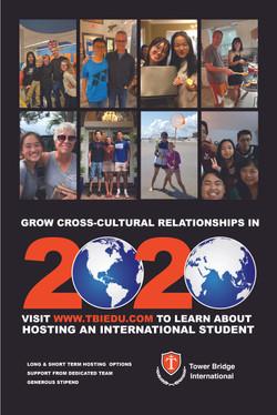 Host Family Recruitment Poster for 2020