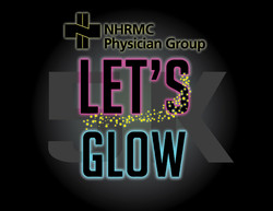 Let's Glow 5K Logo